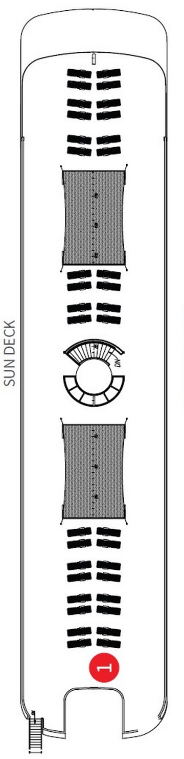 Scenic Spirit Sun Deck layout