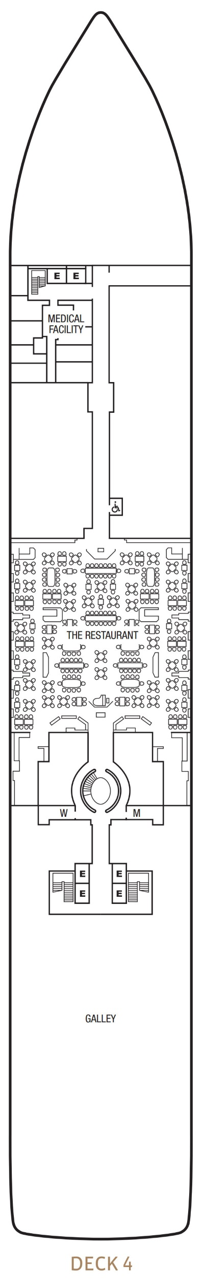Seabourn Encore Deck 4 layout