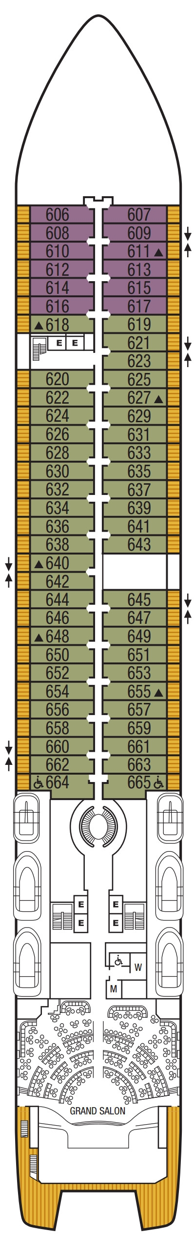 Seabourn Ovation Deck 6 layout