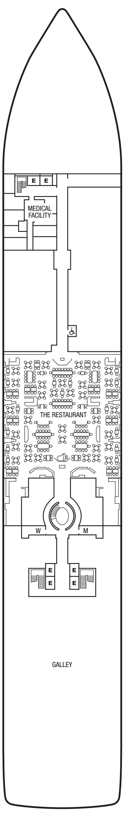 Seabourn Ovation Deck 4 layout