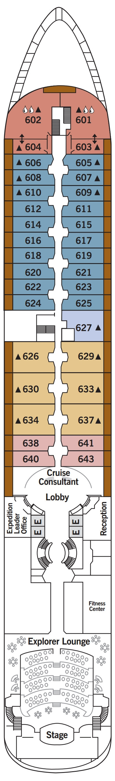 Silver Cloud Deck 6 layout