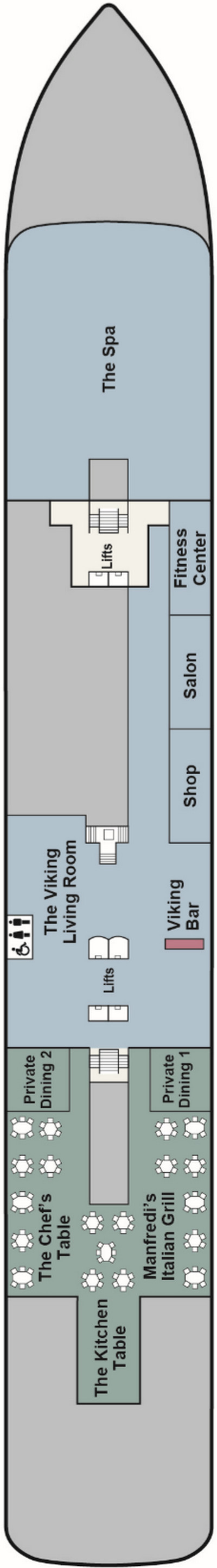 Viking Sun Deck 1 layout
