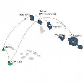 Cook Islands and Society Islands Fly Itinerary