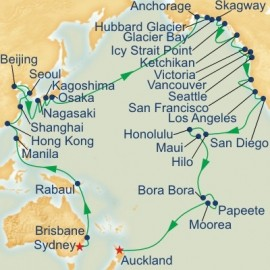 Circle Pacific Sydney to Auckland Itinerary