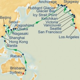 Circle Pacific Sydney to Los Angeles Itinerary