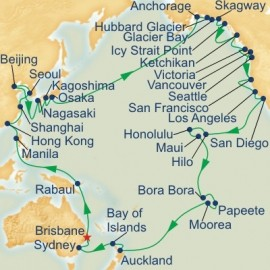 Circle Pacific Roundtrip Brisbane Itinerary