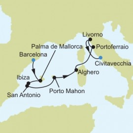 Barcelona to Civitavecchia Rome Itinerary