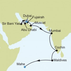 Dubai to Mahe Itinerary