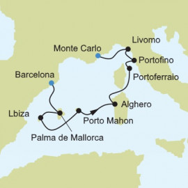 Barcelona to Monte Carlo Itinerary