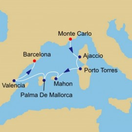 Jewels of the Western Med Itinerary