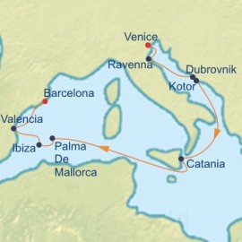 Adriatic and Mediterranean Cruise Itinerary