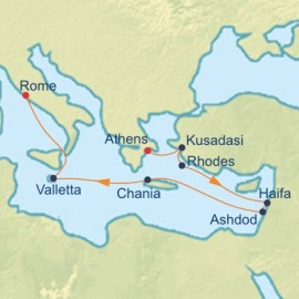 Israel and Mediterranean Cruise Itinerary