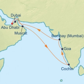 Arabian Sea and India Itinerary
