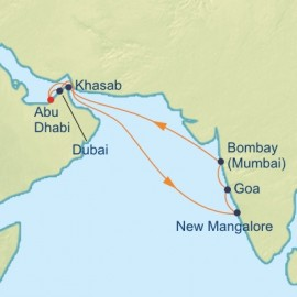 Arabian Sea and India Cruise Itinerary