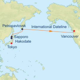 Japan and Bering Sea Itinerary