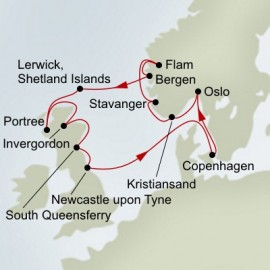 Fjords and Highlands  Itinerary