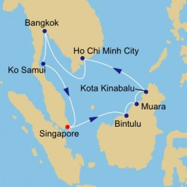 Borneo Vietnam and Thailand Itinerary
