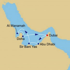 Arabian Gulf and Emirates Voyage Itinerary