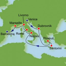 Grand Mediterranean from Venice Itinerary