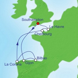 France and Spain Cruise Itinerary