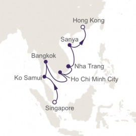 Singapore to Hong Kong World Sector Itinerary