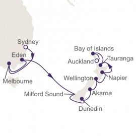 Sydney to Auckland World Sector Itinerary