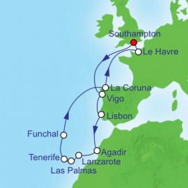 Canaries and North Africa  Itinerary