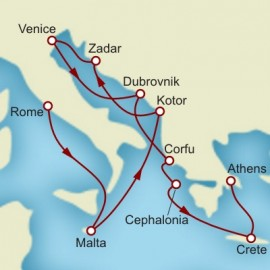 Croatia Greek Isles and Athens Itinerary