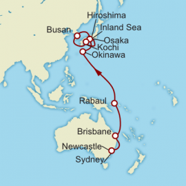 Sydney to Kyoto World Sector Itinerary