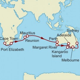 Cape Town to Sydney World Sector Itinerary