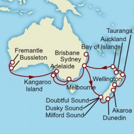 Fremantle to Brisbane World Sector Itinerary