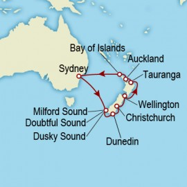 Sydney to Sydney World Sector Itinerary