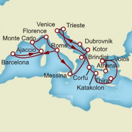 Barcelona and Rome and Athens Itinerary