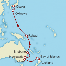 Auckland to Kyoto World Sector Itinerary