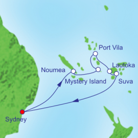 South Pacific and Fiji Itinerary