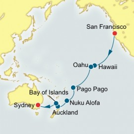 San Francisco to Sydney World Sector Itinerary