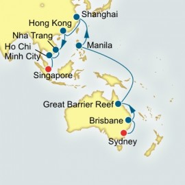 Sydney to Singapore World Sector Itinerary