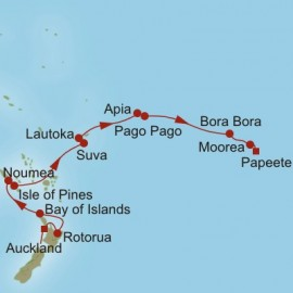 Auckland to Papeete Itinerary