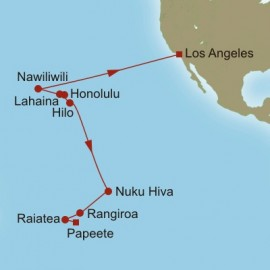 Stars of the Pacific  Itinerary