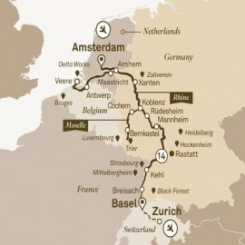 Romantic Rhine and Moselle  Itinerary