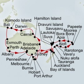 Australia Circumnavigation and Pacific Explorer Collector Itinerary