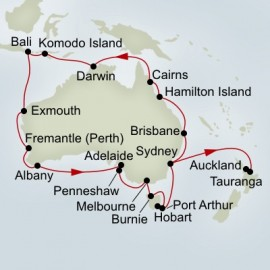 Australia Circumnavigation and Tasman Sea Explorer Itinerary