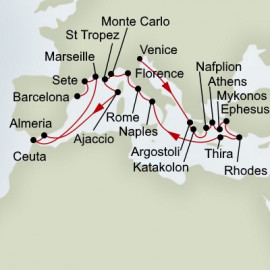 Dream of The Mediterranean Itinerary