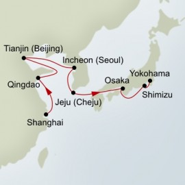 Japan and South Korea and China Itinerary