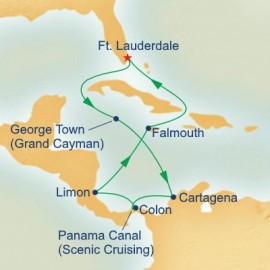 Panama Canal with Costa Rica and Caribbean New Locks Itinerary