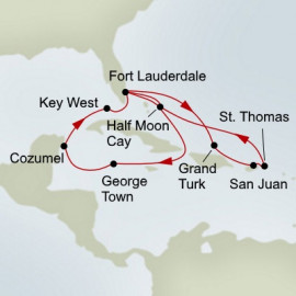 Eastern and Western Caribbean Collector Holiday Itinerary
