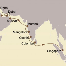 Jewels Of Arabia and India Itinerary