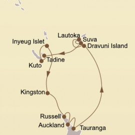 Holiday South Pacific Isles Itinerary