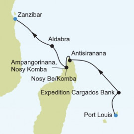 Port Louis to Zanzibar Itinerary