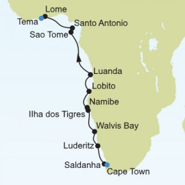 Cape Town to Tema Itinerary